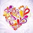 Royalty-Free Stock Vector Image: Abstract heart colorful. Vector