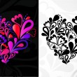 Royalty-Free Stock Vector Image: Two hearts. Vector background