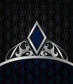 Fundo azul vintage. vector — Vetor de Stock