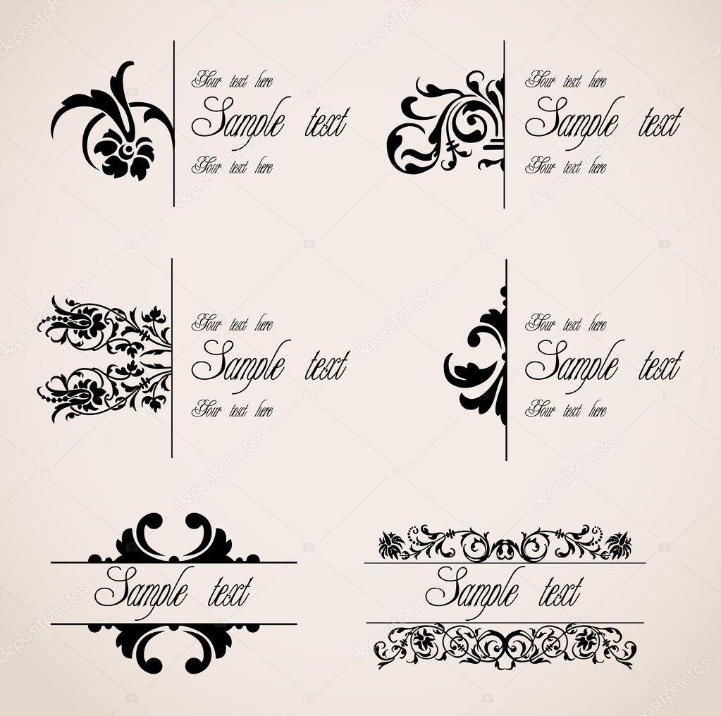 Classic Border Ornaments. Vector set — Stock Vector © emaria #