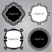 Frame Set ornamental. Vector — Stock Vector