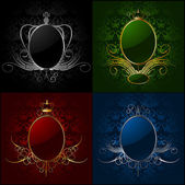 Set royal backgrounds with frame. Vector — Stock Vector