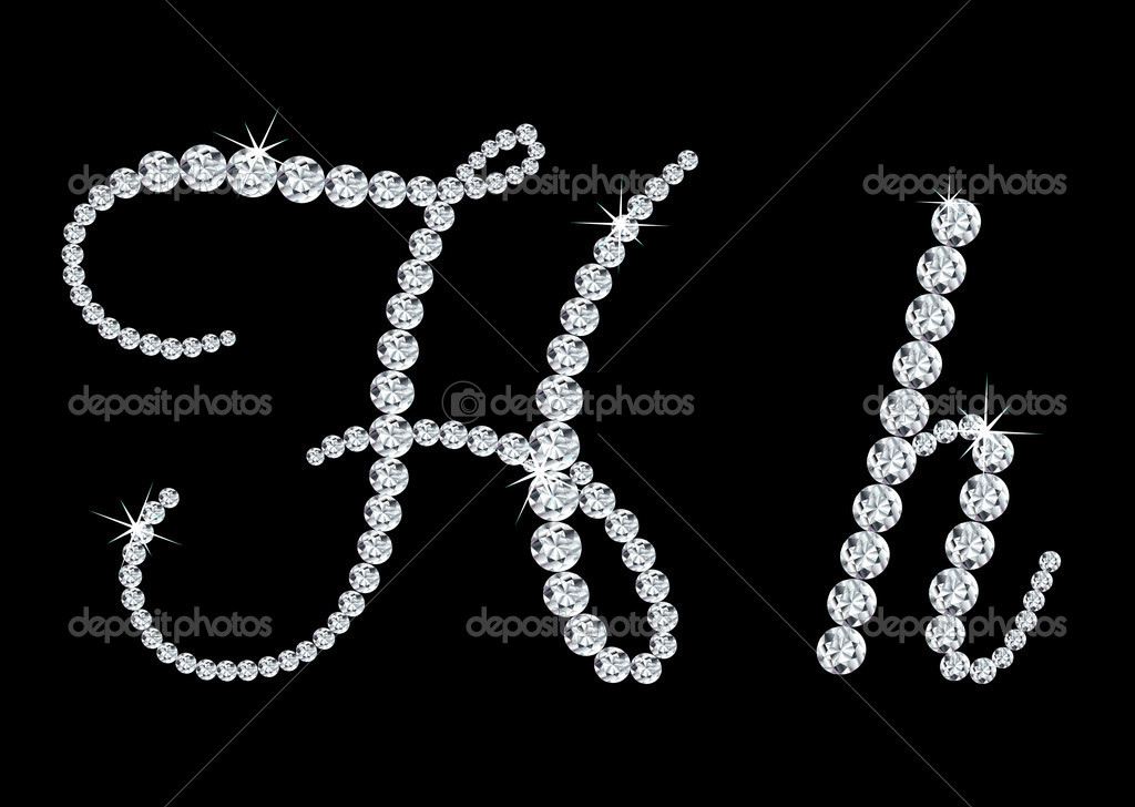 Diamond Letter Stock Vectors Clipart and Illustrations