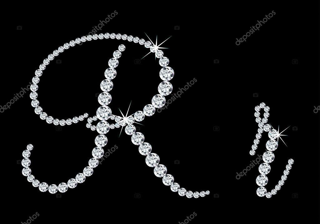 R Alphabet In Diamond Diamond alphabetic uppercase