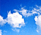 White clouds in the blue sky. Vector mosaic background — Stockvektor