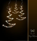 Funny Sparkler Trees. Vector illustration — Stock Vector