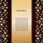 Vintage gold floral background. Vector — Stock Vector