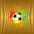 Royalty-Free Stock Vector Image: Abstract gold background with soccer ball. Vector