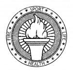 Grunge black stamp fire torch. Vector illustration — Stock Vector