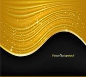 抽象的金黄背景。矢量插画 — 图库矢量图片
