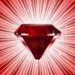 Red diamond. Vector shine background — Stock Vector