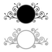 Decorative Floral frames. Vector illustration — Stock Vector