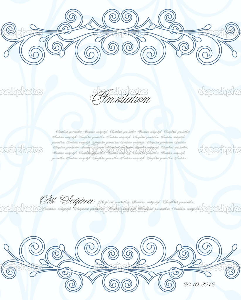 Floral background for design or your invitation. Vector illustration — Stock Vector #12403916