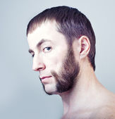 Man with sideburns — Stock Photo