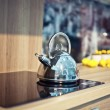 Shiny kettle — Stock Photo