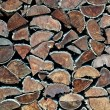 Stock Photo: Firewood texture
