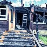 Abandoned burnt house — Stock Photo #12147227