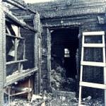 Abandoned burnt house — Stock Photo #12147239