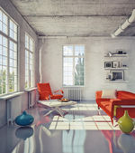 Modern loft — Stock Photo