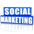Social marketing — Stock Photo