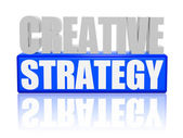 Creative strategy - letters and block — Stock Photo