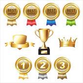 Golden Awards — Stock Vector