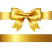 Satynowa kokardka prezent — Wektor stockowy