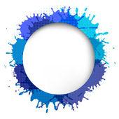 Bocadillo de diálogo con gota azul — Vector de stock