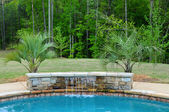 Característica del agua piscina — Foto de Stock