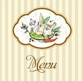 Menu restauracji vintage — Wektor stockowy