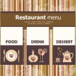 Menu for restaurant, cafe, bar, coffeehouse — Stock Vector