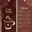 Menu for restaurant, cafe, bar, coffeehouse - Stockvektor
