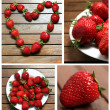 Stock Photo: Strawberries collage