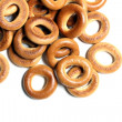 Isolated pastry rings — Stock Photo