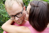 Young Couple Man and Woman Embracing — Stock Photo