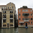 Buildings on the big canal in Venice - Stock Photo