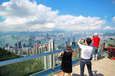 Hong Kong skyline from Victoria Peak — Stock Photo