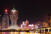 Paysage urbain de macao avec le célèbre point de repère des gratte-ciel de casino et br — Photo