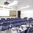 Empty classroom with chair and board — Stock Photo