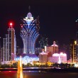 Macao cityscape with famous landmark of casino skyscraper and br — Stockfoto #11471535