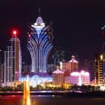 Makao cityscape casino gökdelen ve br ünlü Simgesel Yapı ile — Stok fotoğraf #11471535