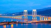Sai Van Bridge in Macau at night — Stock Photo