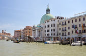 Cityscape and Basilica Santa Maria from the Grand Canal — Stock Photo