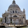 Basilica Santa Maria Della Salute from the Grand Canal - Stock Photo