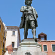 Carlo Goldoni Statue — Stock Photo