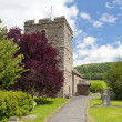 St John the Baptist Church next to Stokesay Castle — Foto Stock