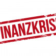 Finanzkrise - Stempel — Stock Photo