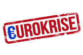 Eurokrise - Stempel — Stock Photo