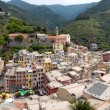 Vernazza panoramic view - Stock Photo