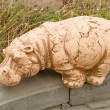 Hippopotamus - garden sculpture — Stock Photo